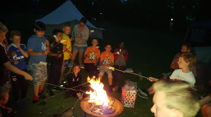 Impressionen des Saisonabschluss der E1 mit Grill, Lagerfeuer und mehr