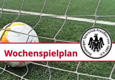 Wochenspielplan 18.10. bis 24.10.2021
