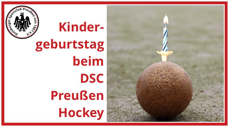 Kindergeburtstag beim DSC Preußen-Hockey