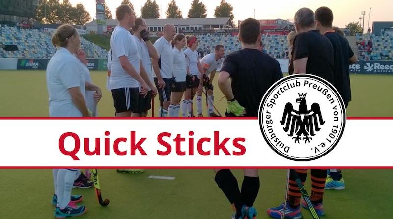Quick Sticks auf Platz 1