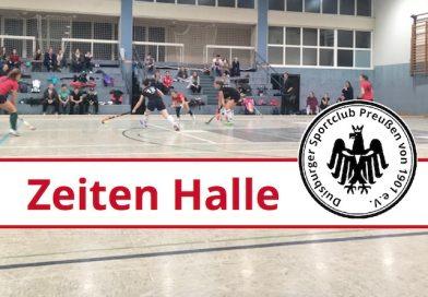 Trainingszeiten Halle 2018/2019