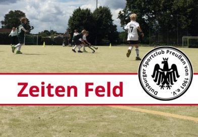 Trainingszeiten Feld 2018