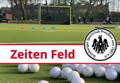 Trainingszeiten Feld 2021