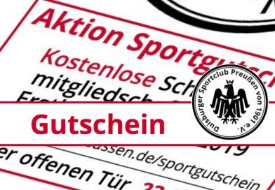Aktion Sportgutschein