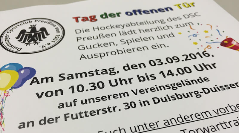 Tag der offenen Tür bei Preußen Hockey